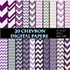Purple Chevron Digital Paper Scrapbooking Paper - GraphicRiver Item for Sale