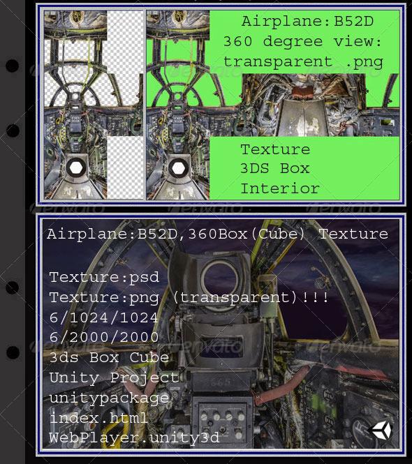 3DOcean Airplane B52D interior 7879275