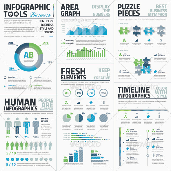 GraphicRiver Big Set of Infographic Business Vector Elements 7879276