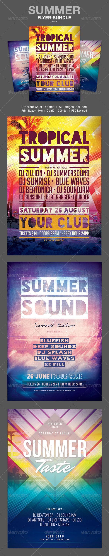 GraphicRiver Summer Flyer Bundle Vol.05 7879511