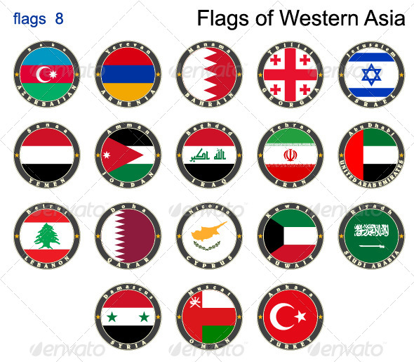 GraphicRiver Flags of Western Asia 7879564