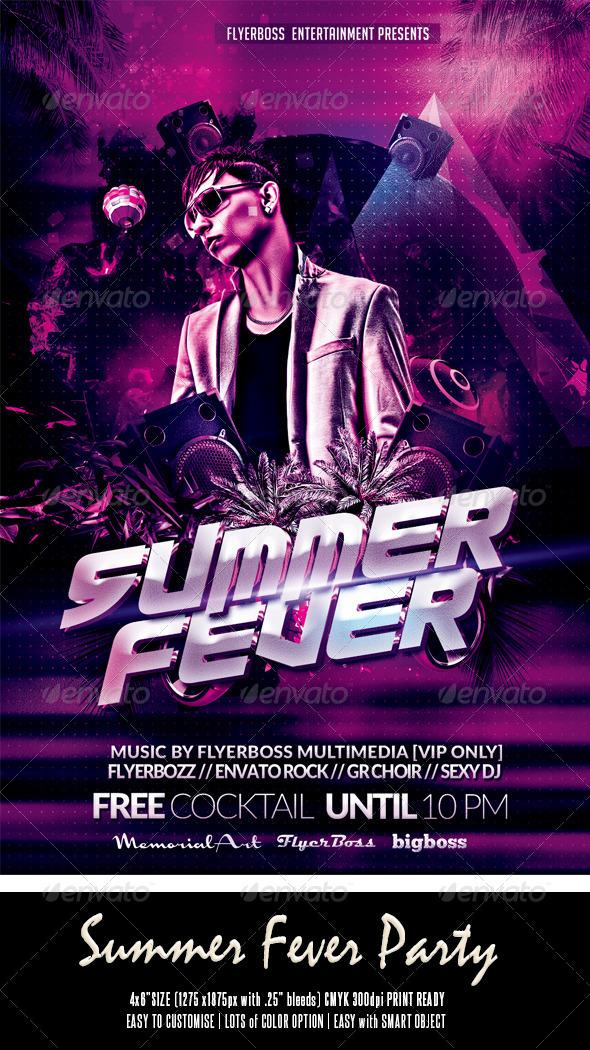 GraphicRiver Summer Fever Flyer 7879739
