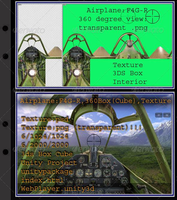 3DOcean Airplane F4G-R interior 7879794