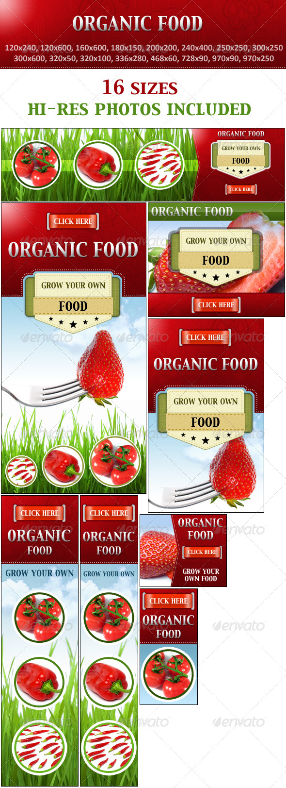 GraphicRiver Organic Food Grow Your Own Food 7876943
