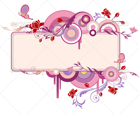 GraphicRiver Decorative Banner with Flowers 7880530