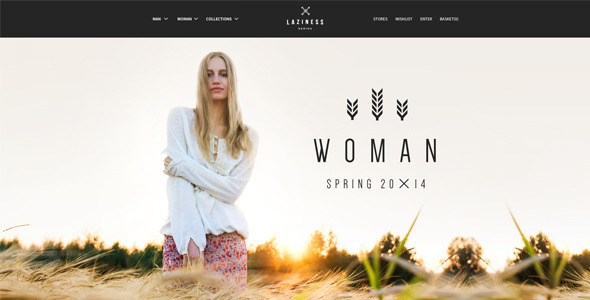 ThemeForest Laziness psd Template 7836397