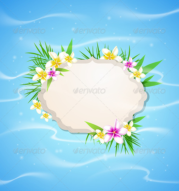 GraphicRiver Summer Blue Marine Background 7880578