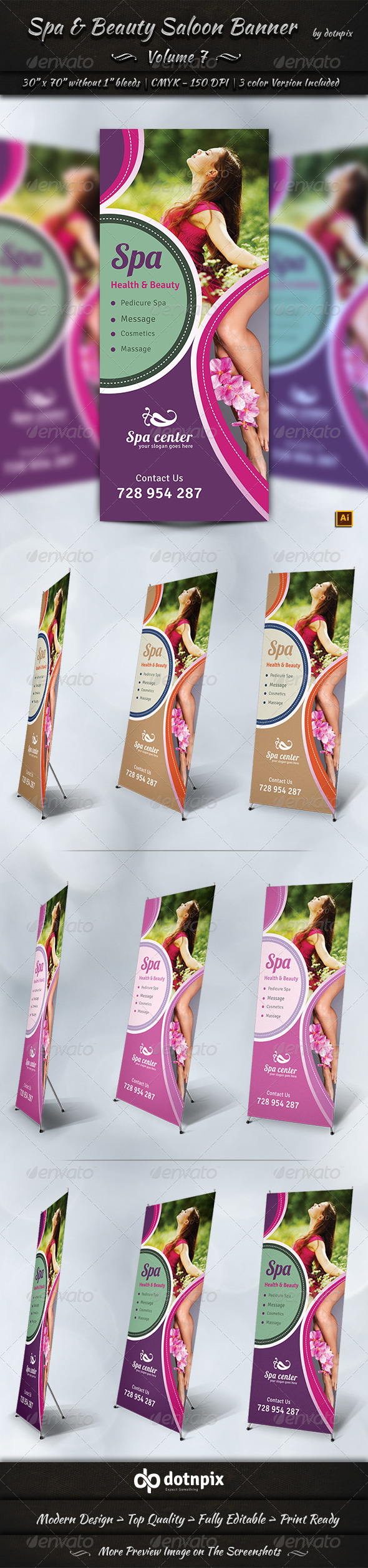 GraphicRiver Spa & Beauty Saloon Business Banner Volume 7 7880583