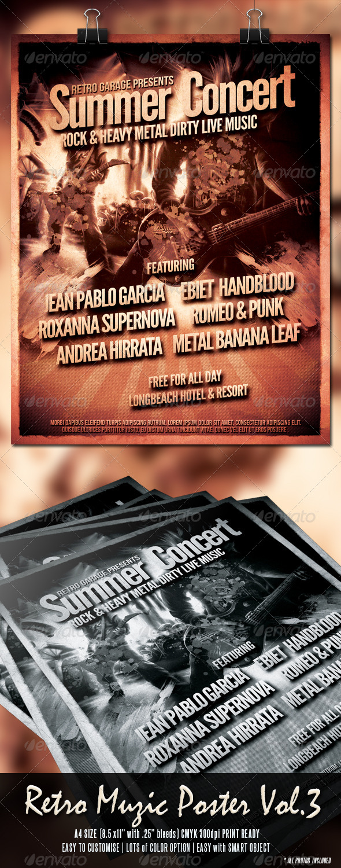 Retro Muzic Flyer/Poster Vol.3