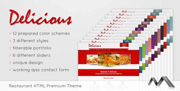 Delicious - Premium Restaurant Template