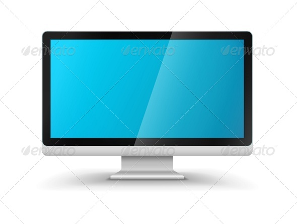 GraphicRiver Computer Display HD Monitor with Blank Screen 7881039