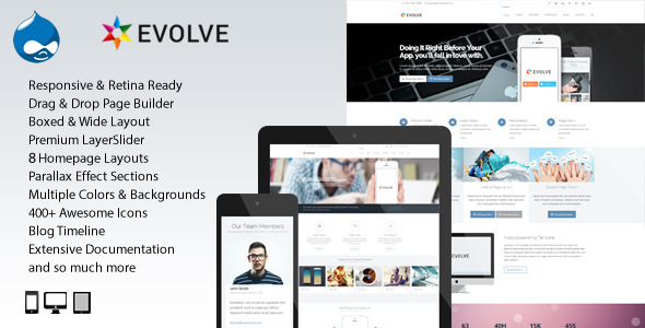 Evolve - MultiPurpose, Creative Drupal Theme
