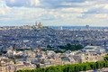 View of Paris, the hill Montmartre and the Sacre Coeur Basilica - PhotoDune Item for Sale