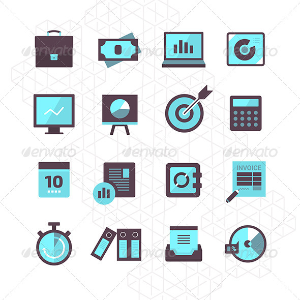 GraphicRiver 16 Finance Icons Collection 7881669