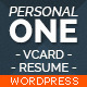 Personal One - OnePage / VCard / Wordpress Theme  - ThemeForest Item for Sale