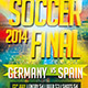 2014 Soccer Final Flyer Template - GraphicRiver Item for Sale