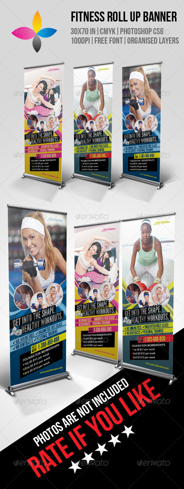 GraphicRiver Fitness Roll Up Banner 7882619