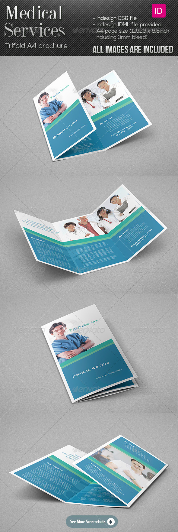 GraphicRiver Medical Services Trifold Brochure 7882658