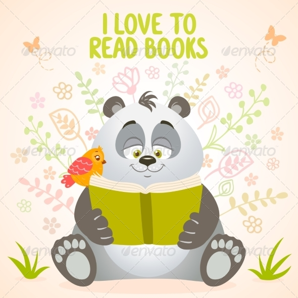 GraphicRiver Panda Reads 7882878