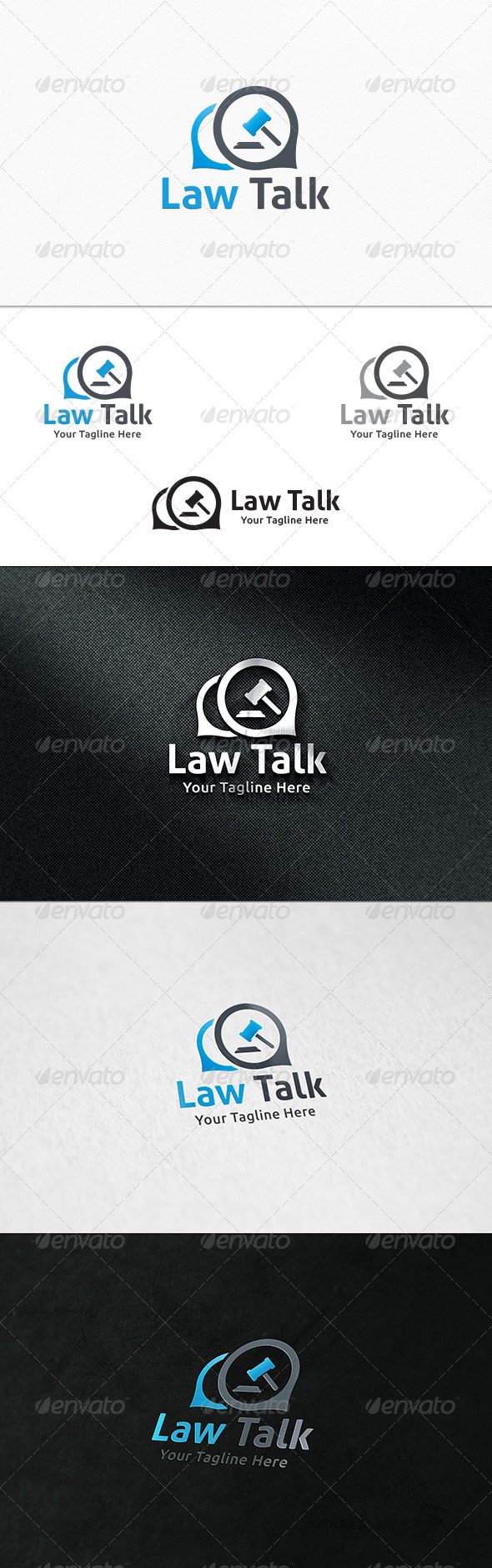 Law Talk Logo Template