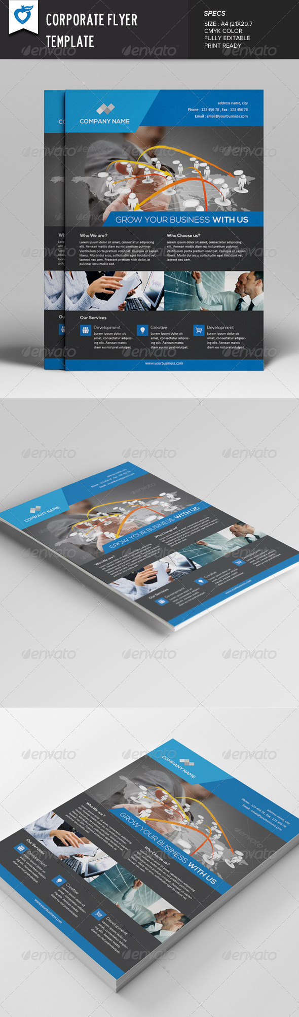 GraphicRiver Corporate Flyer Template v3 7877961