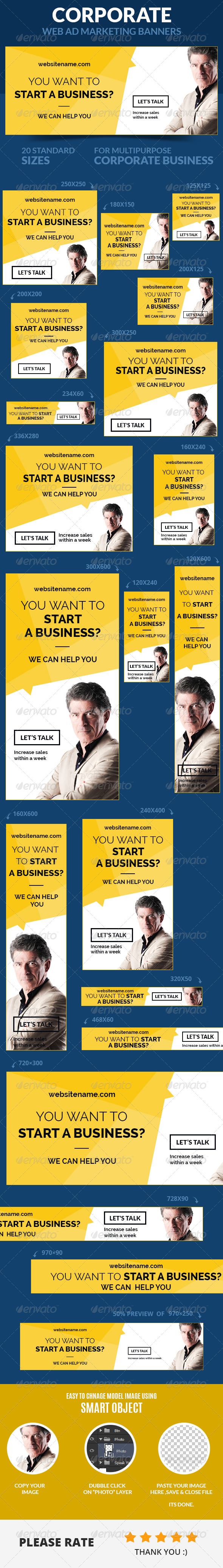 Corporate Web Ad Marketing Banners