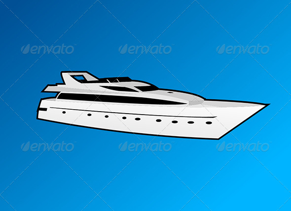 GraphicRiver Vector Yacht 7855249