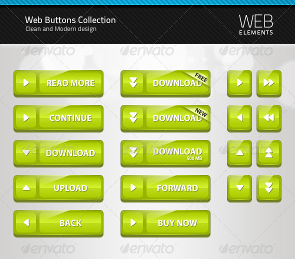 Web Button Collection 1 - Buttons Web Elements