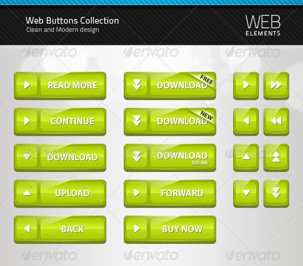 Web Button Collection 1 - Buttons Web Elements