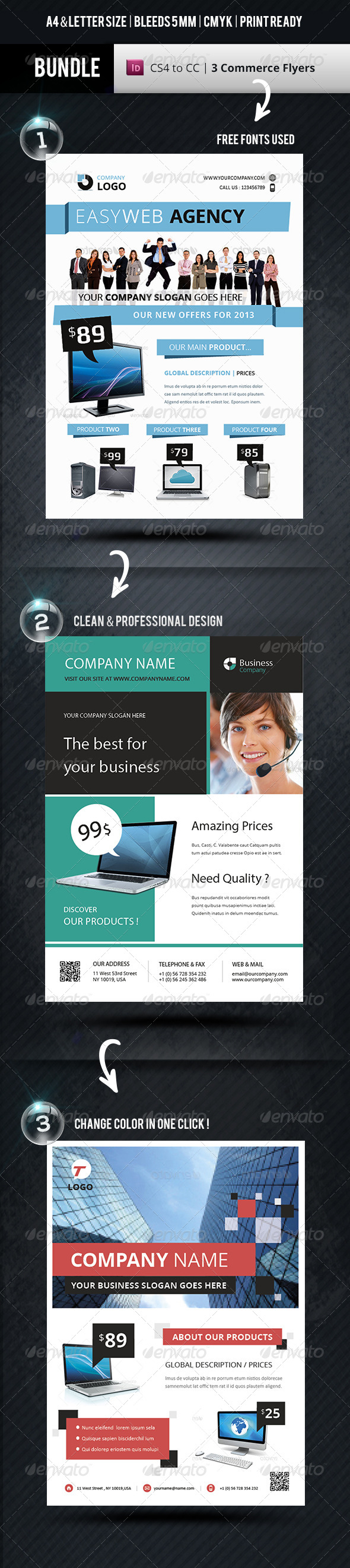 GraphicRiver Bundle Business Flyer Indesign Templates 7883268