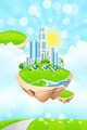 Business City on Island - PhotoDune Item for Sale