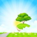 Green Tree on Island - PhotoDune Item for Sale