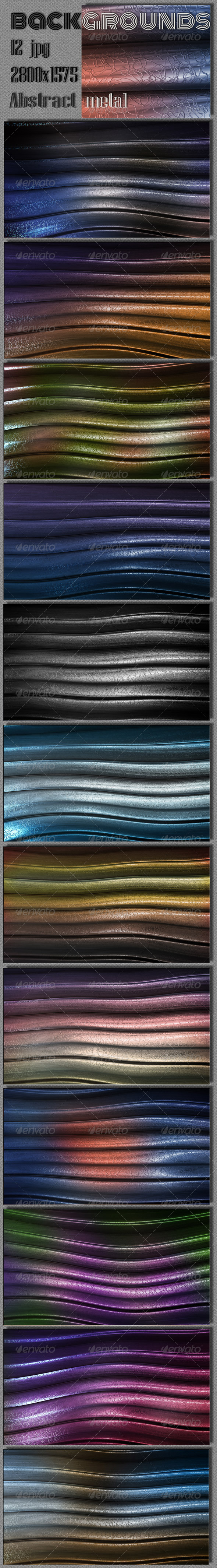 GraphicRiver Wave Metal Web Background 7883741