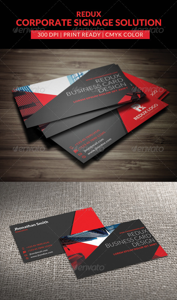 GraphicRiver Redux Corporate Business Card Template 7883822