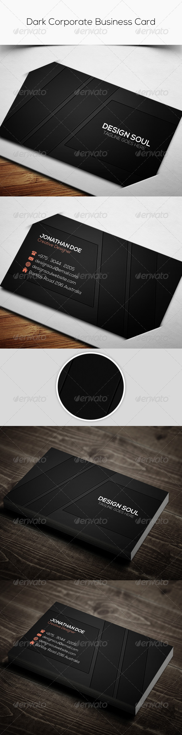 GraphicRiver Dark Corporate Business Card 7884391