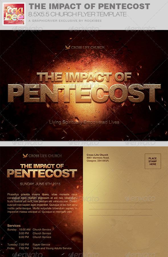GraphicRiver The Impact of Pentecost Church Flyer Invite 7884611