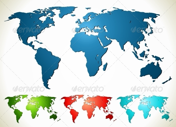 World map PSD EPS AI CDR Vector Illustration