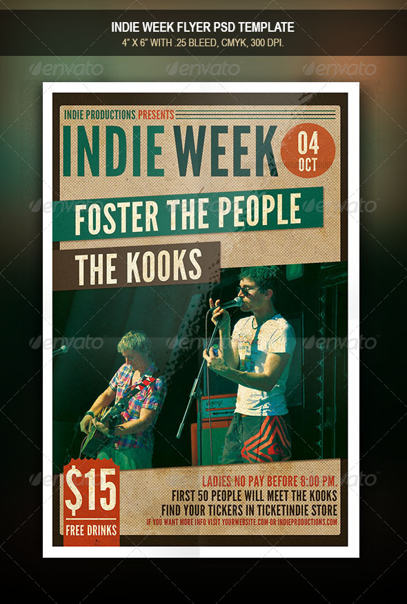 GraphicRiver Indie Week Flyer 7884976