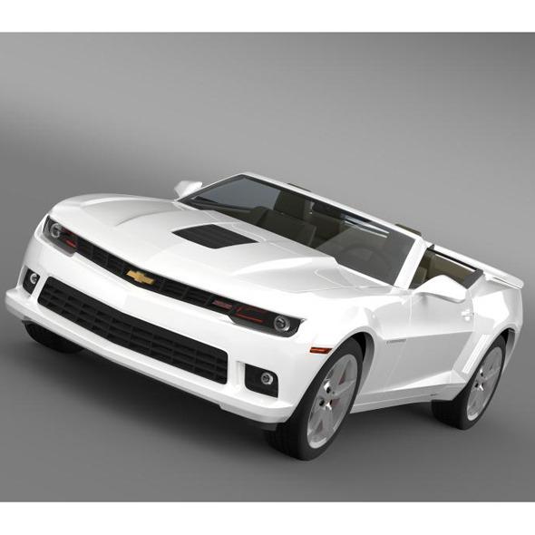 3DOcean Chevrolet Camaro SS Convertible 2014 7885096