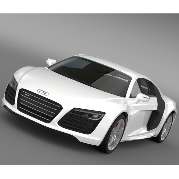 Audi R8 V10 2013 - 3DOcean Item for Sale