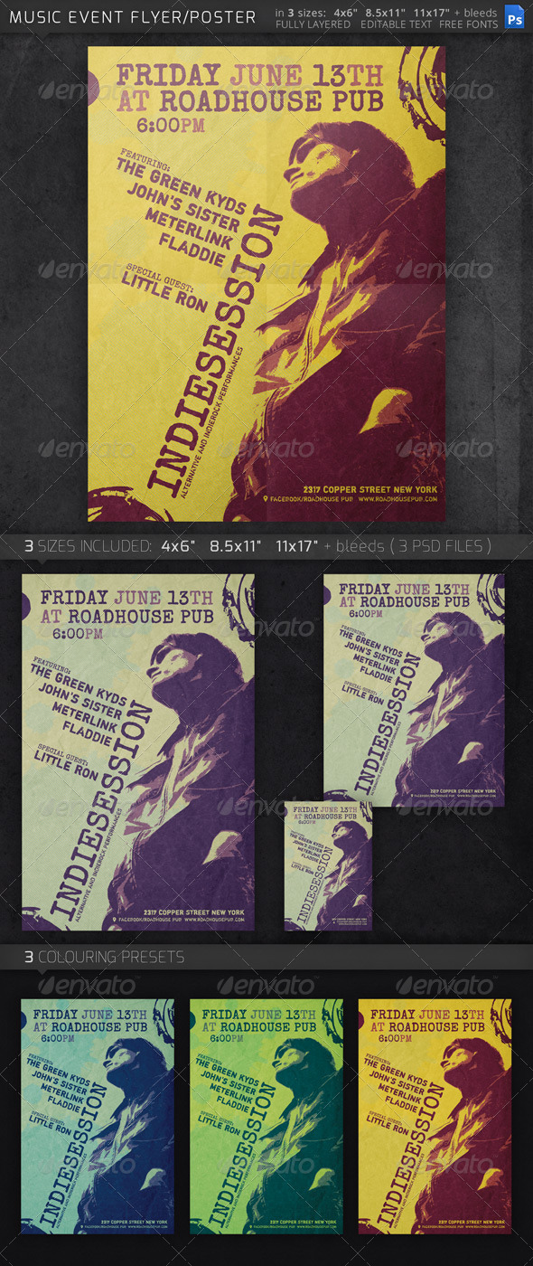 GraphicRiver Music Event Flyer 7885137