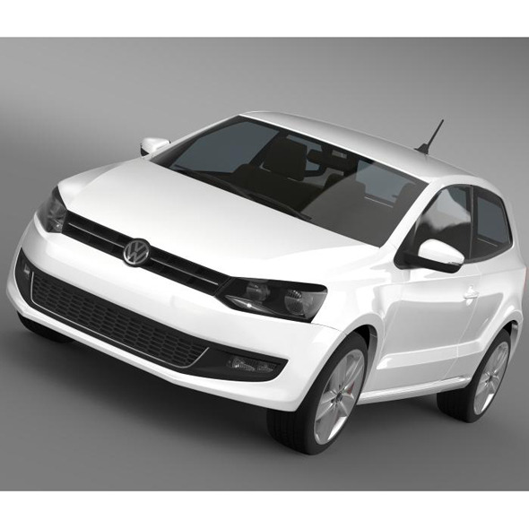 Volkswagen Polo 3d 2009-2013 - 3DOcean Item for Sale