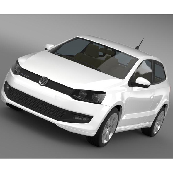 Volkswagen Polo BlueMotion 3d 2010-2013 - 3DOcean Item for Sale