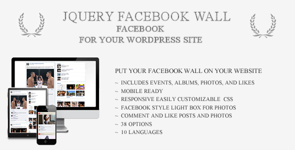 jQueryFacebookWall WordPress - CodeCanyon Item for Sale