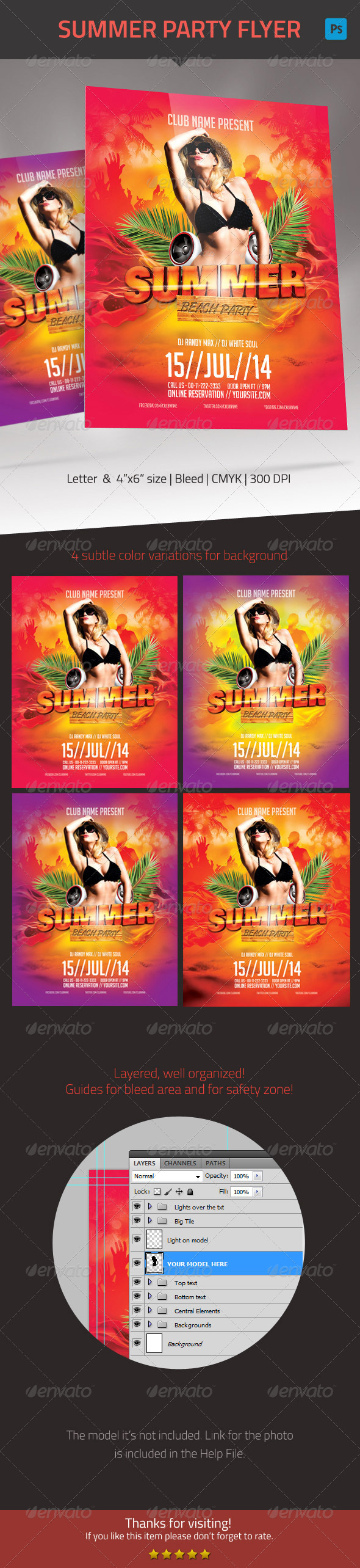 GraphicRiver Summer Party Flyer 7885375