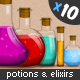 Set of Elixirs and Potions - GraphicRiver Item for Sale