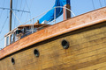 Front view of wooden yacht - PhotoDune Item for Sale
