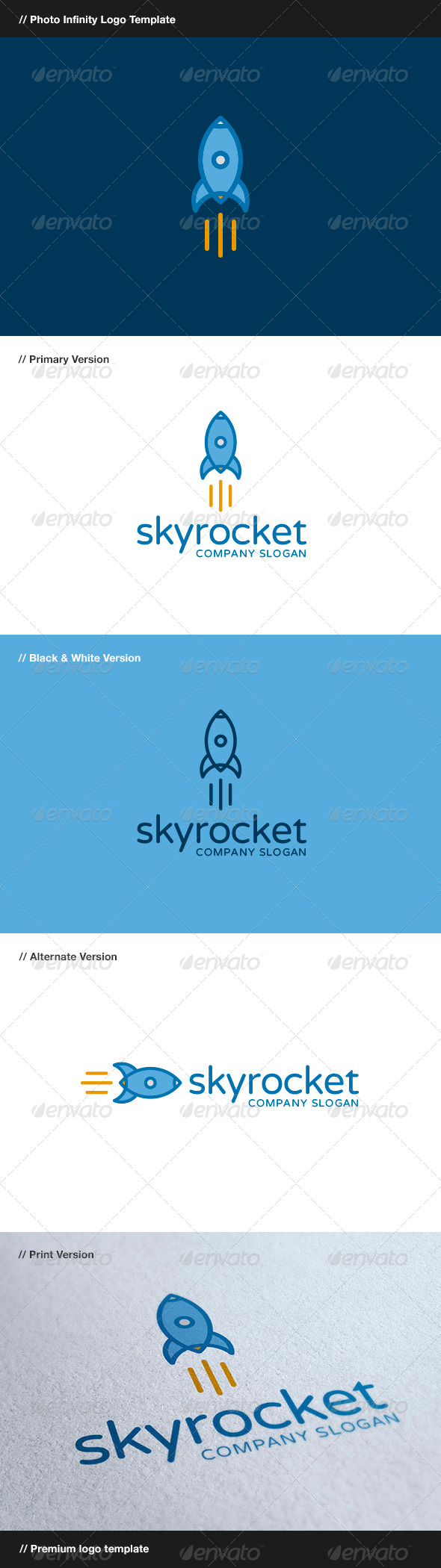 GraphicRiver Skyrocket Rocket Logo 7885463