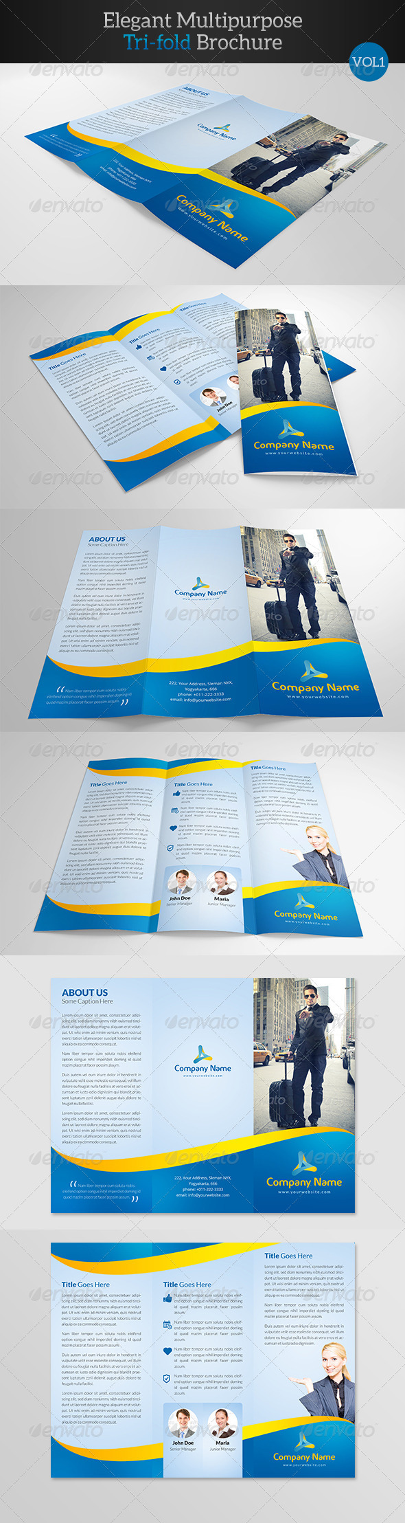 GraphicRiver Elegant Multipurpose Trifold Brochure 7885505