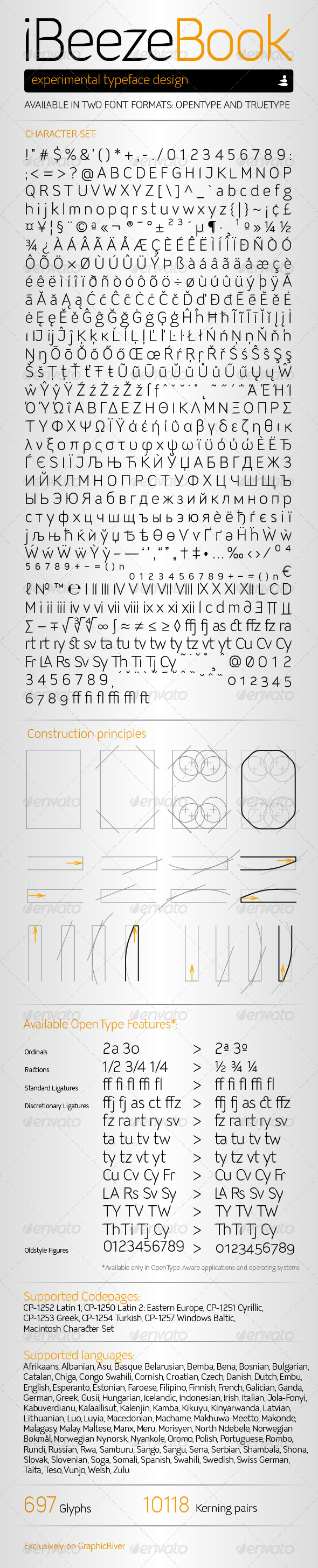 GraphicRiver iBeeze Book Font 7885521